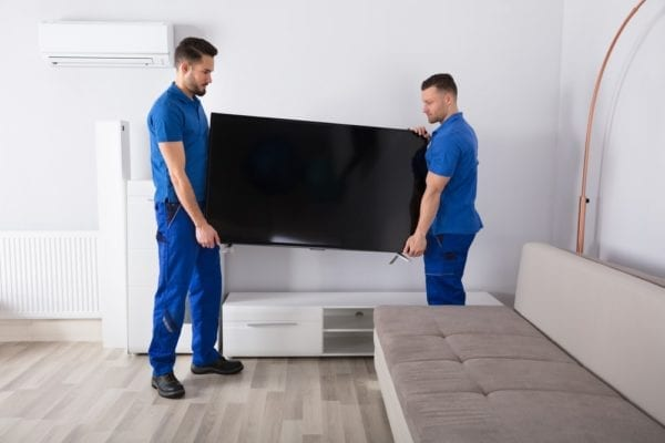 how to properly and safely move a television